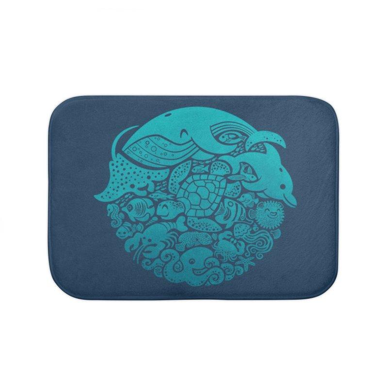 Aquatic Spectrum Home Bath Mat by Waynem
