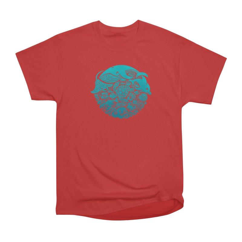Aquatic Spectrum Men's Classic T-Shirt by Waynem