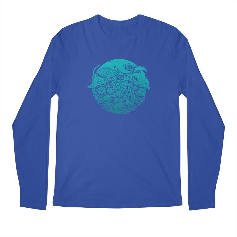 Aquatic Spectrum Men's Longsleeve T-Shirt by Waynem