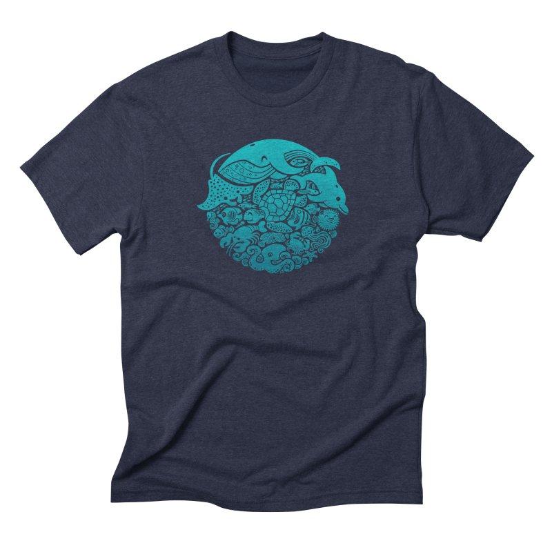 Aquatic Spectrum Men's Triblend T-Shirt by Waynem