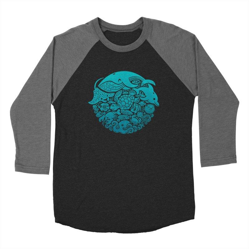 Aquatic Spectrum Men's Baseball Triblend T-Shirt by Waynem
