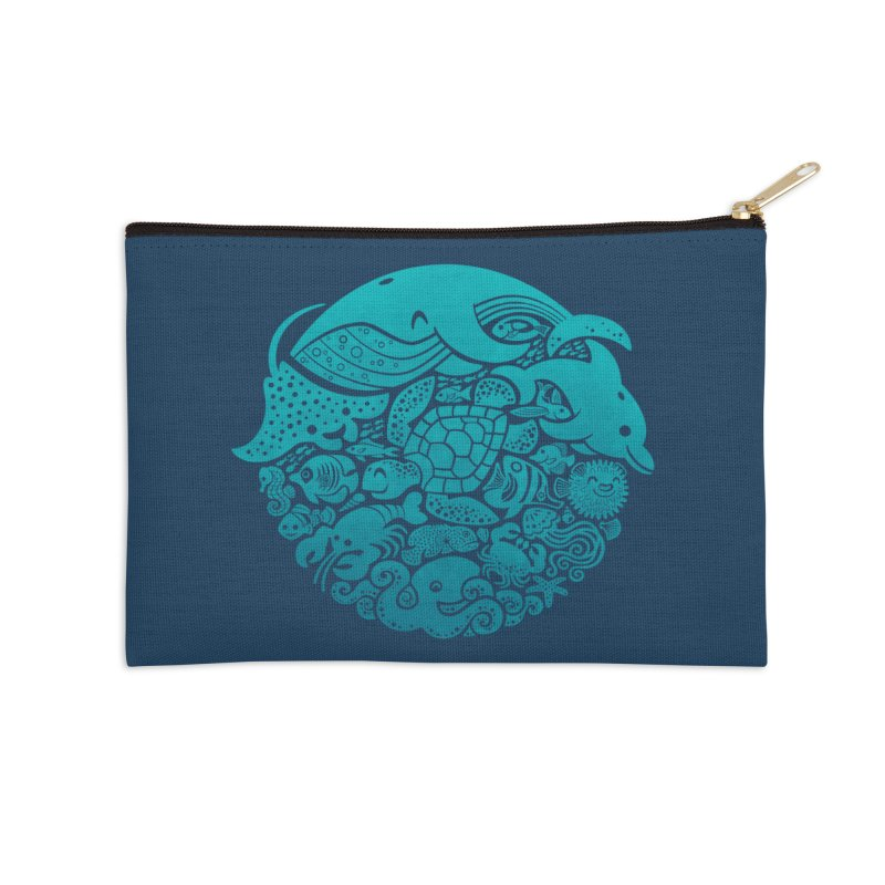 Aquatic Spectrum Accessories Zip Pouch by Waynem