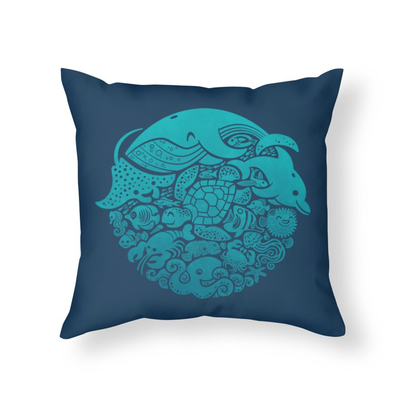 Aquatic Spectrum Home Throw Pillow by Waynem