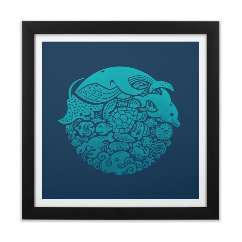 Aquatic Spectrum Home Framed Fine Art Print by Waynem