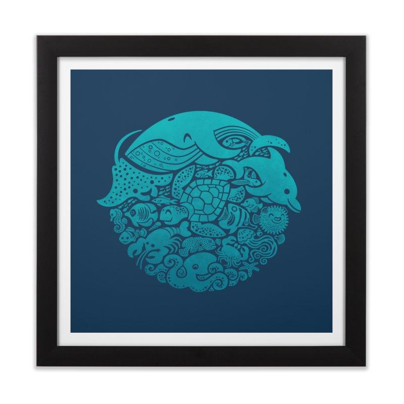 Aquatic Spectrum Home Framed Fine Art Print by Waynem