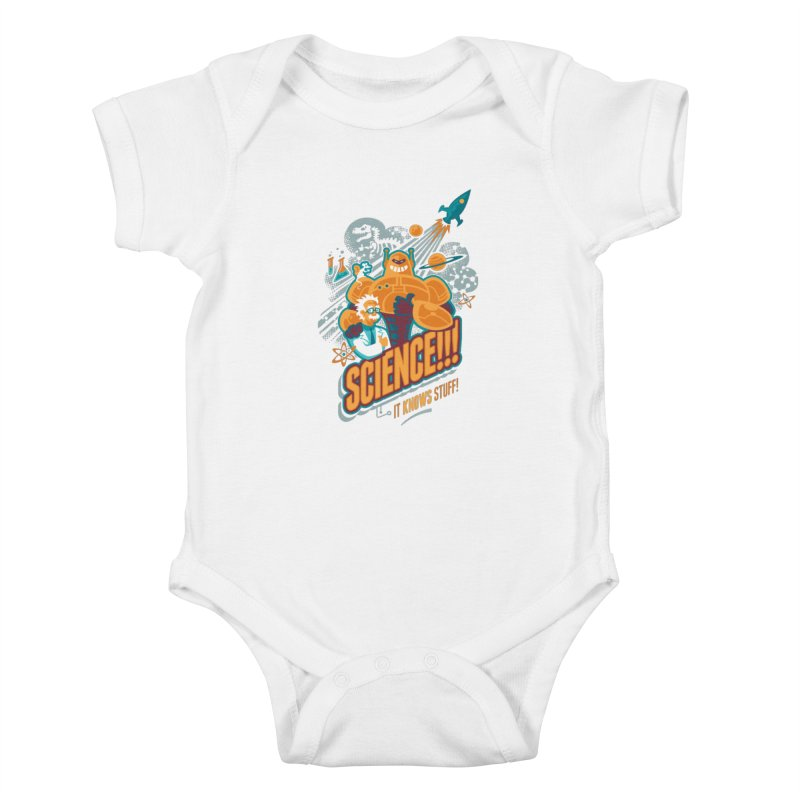 Science!!! It Knows Stuff! Kids Baby Bodysuit by Waynem