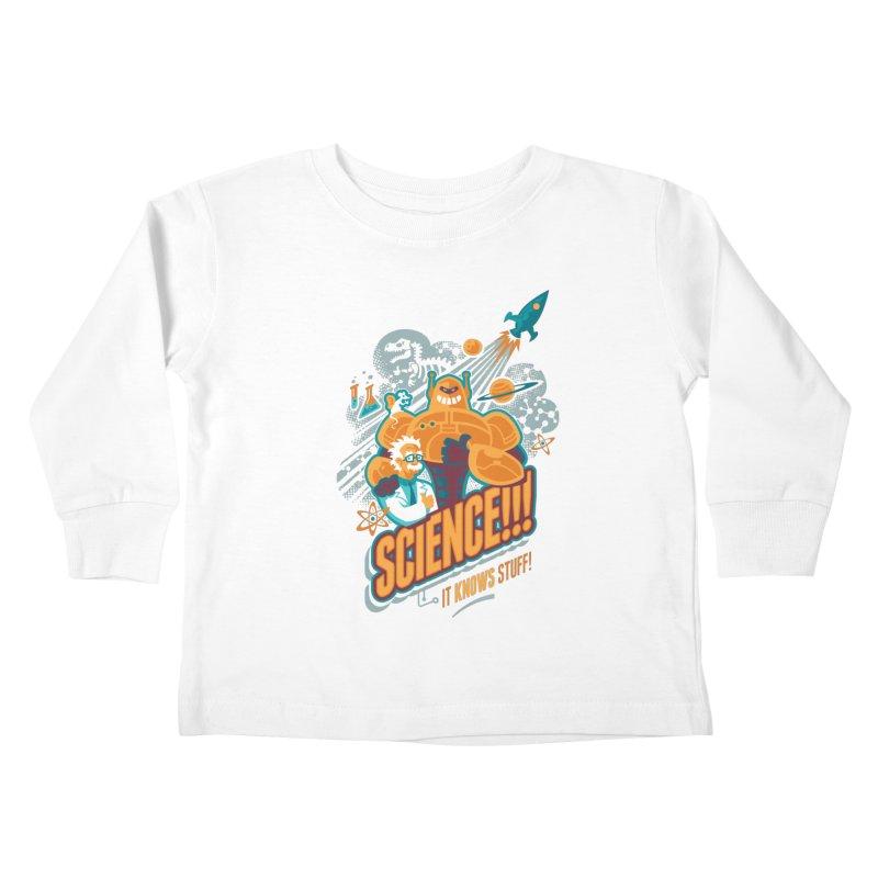 Science!!! It Knows Stuff! Kids Toddler Longsleeve T-Shirt by Waynem