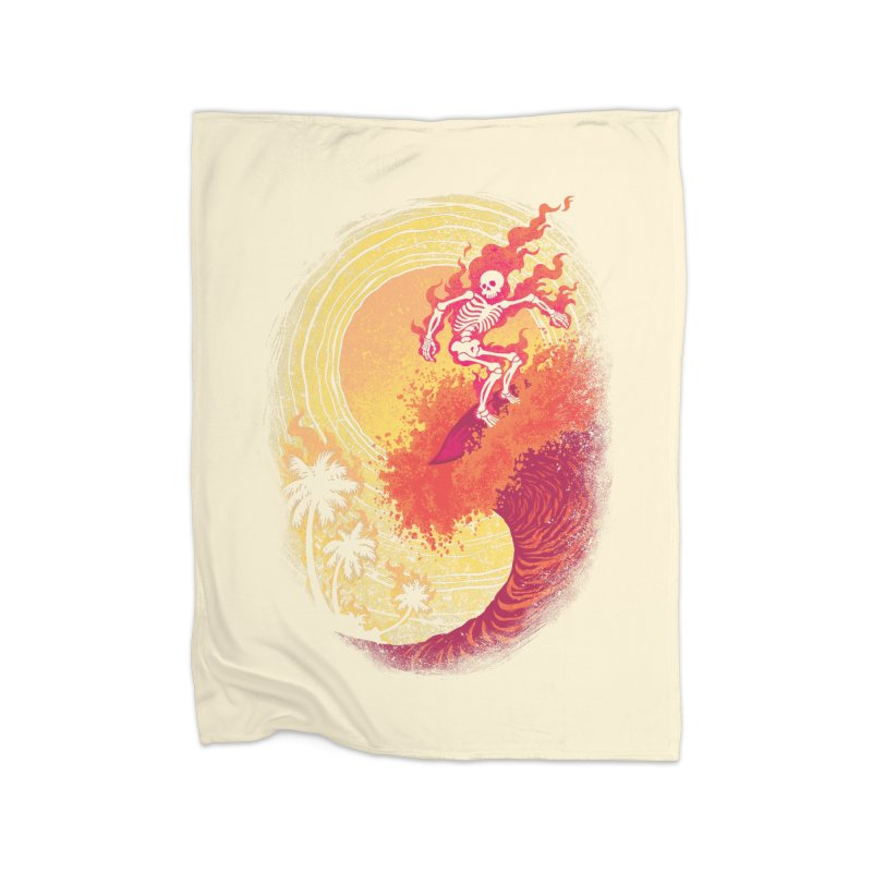 Heat Wave II Home Fleece Blanket by Waynem