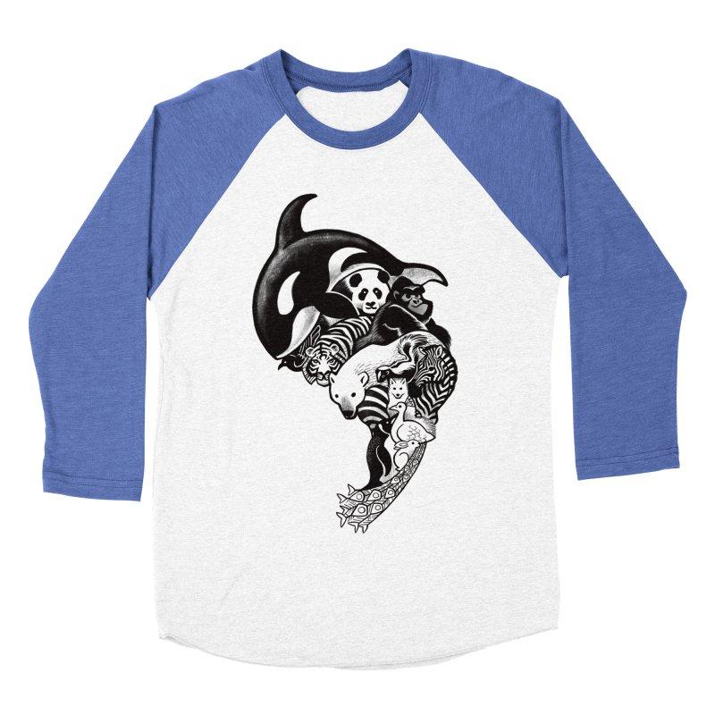 Monochromanimal Women's Baseball Triblend T-Shirt by Waynem