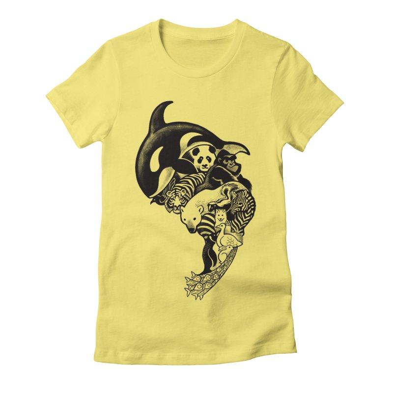 Monochromanimal Women's Fitted T-Shirt by Waynem