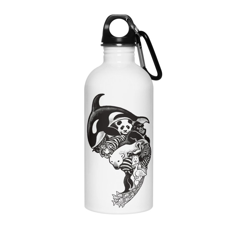 Monochromanimal Accessories Water Bottle by Waynem