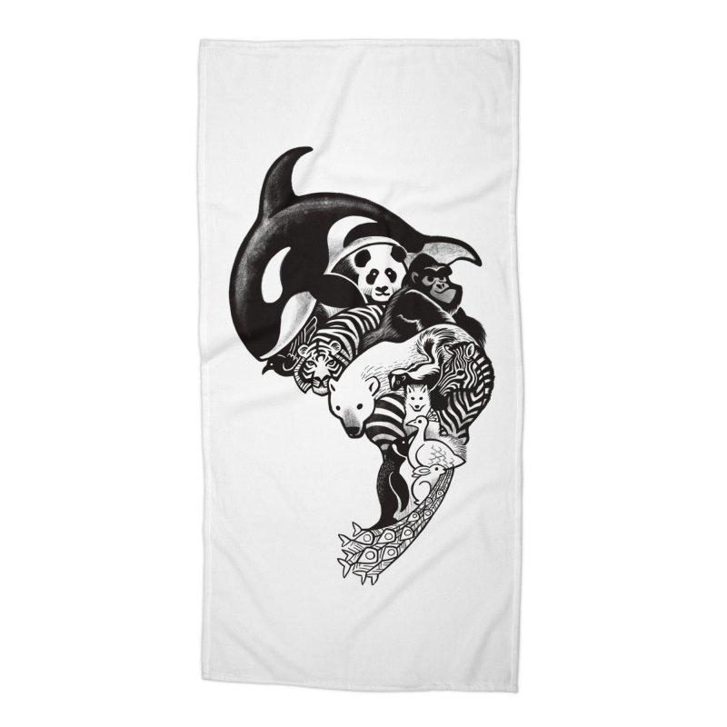 Monochromanimal Accessories Beach Towel by Waynem