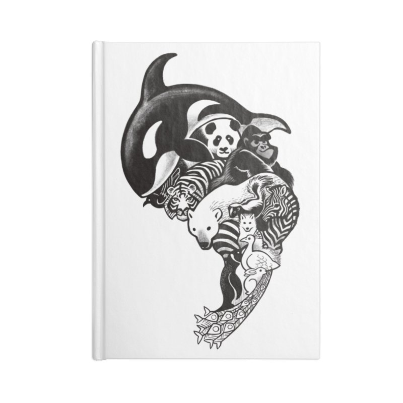 Monochromanimal Accessories Notebook by Waynem