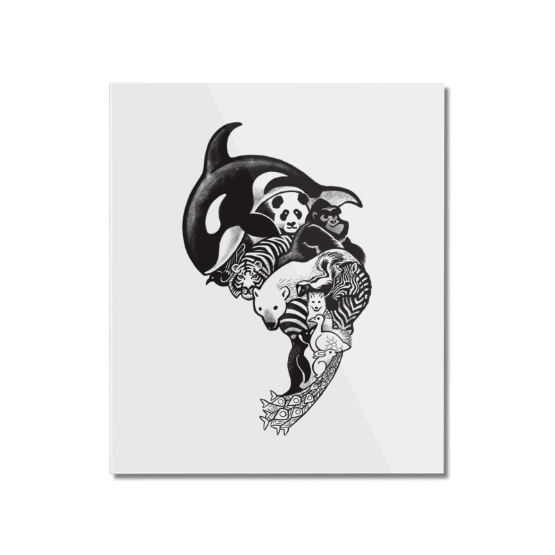 Monochromanimal Home Mounted Acrylic Print by Waynem
