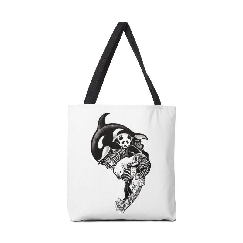 Monochromanimal Accessories Bag by Waynem