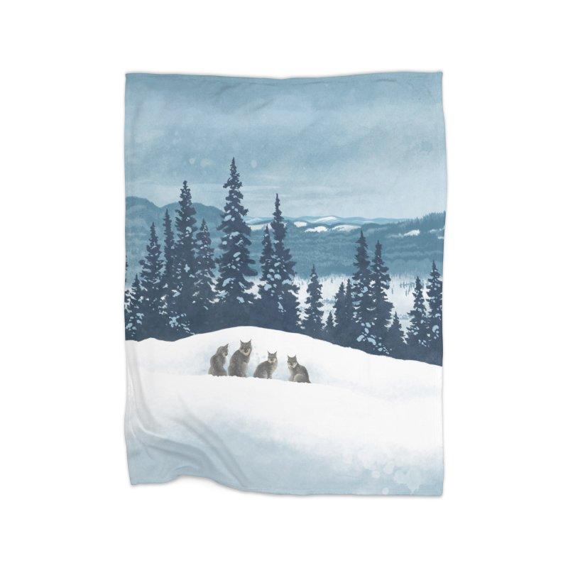 Frozen North Home Fleece Blanket by Waynem