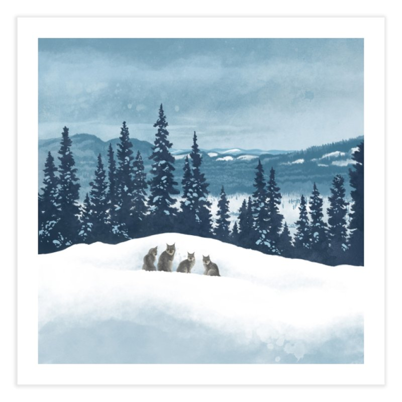 Frozen North Home Fine Art Print by Waynem