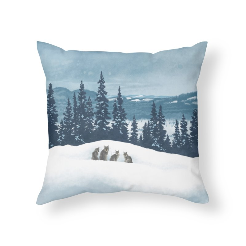Frozen North Home Throw Pillow by Waynem