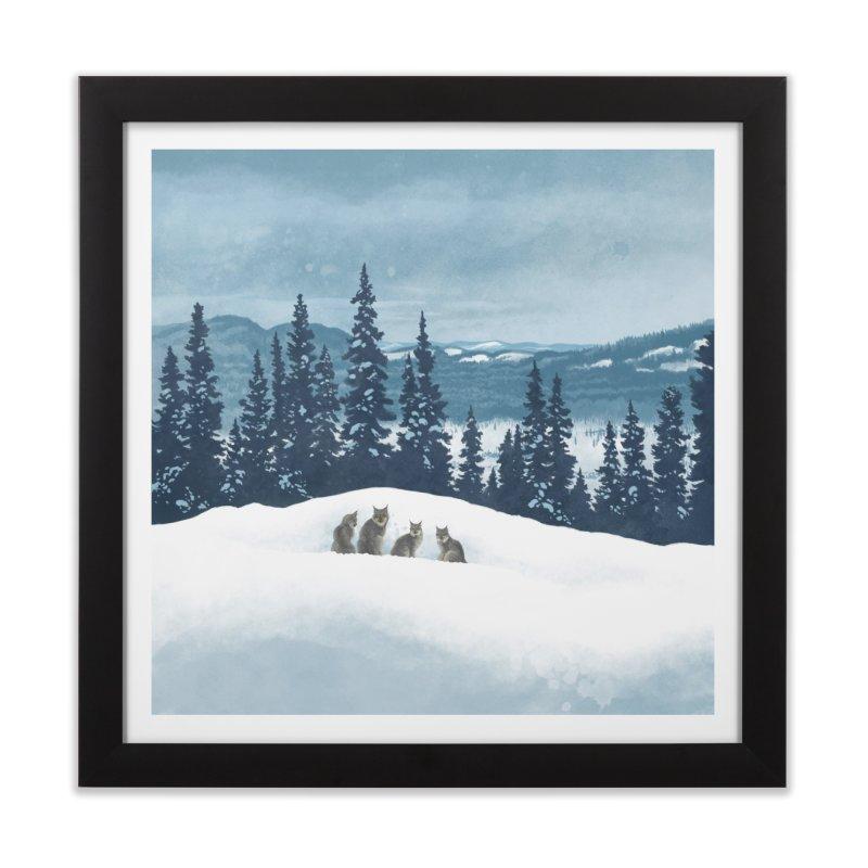 Frozen North Home Framed Fine Art Print by Waynem