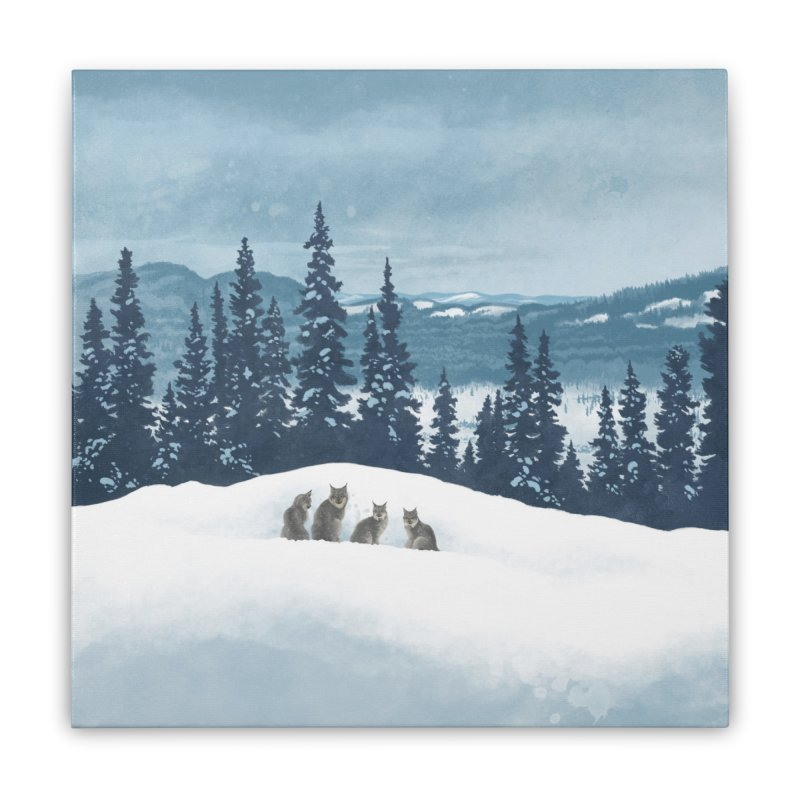 Frozen North Home Stretched Canvas by Waynem