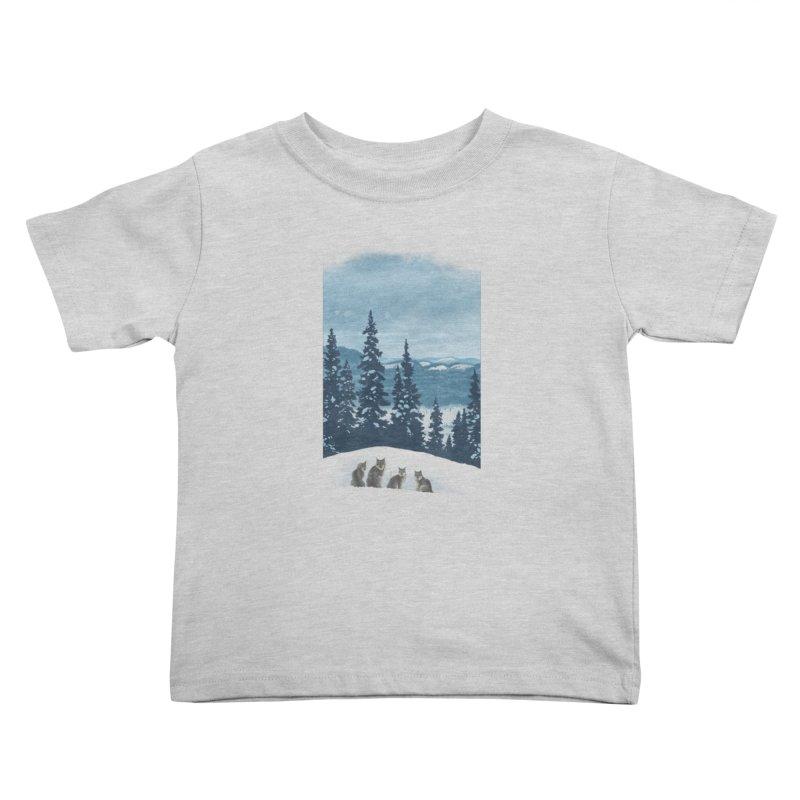 Frozen North Kids Toddler T-Shirt by Waynem