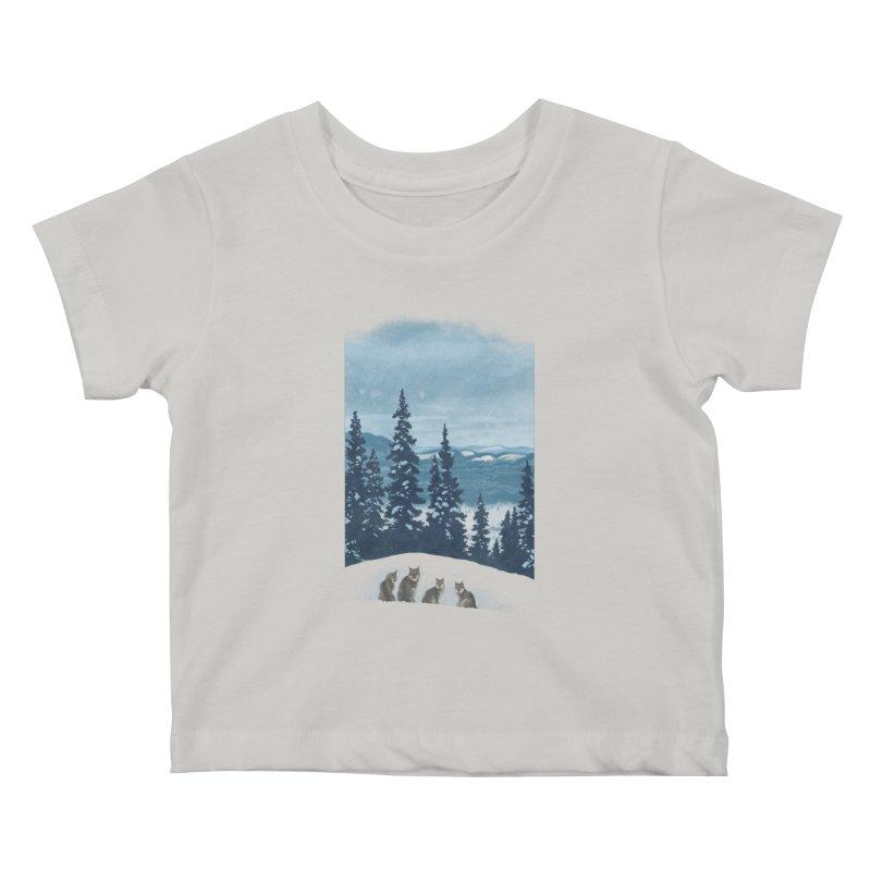 Frozen North Kids Baby T-Shirt by Waynem