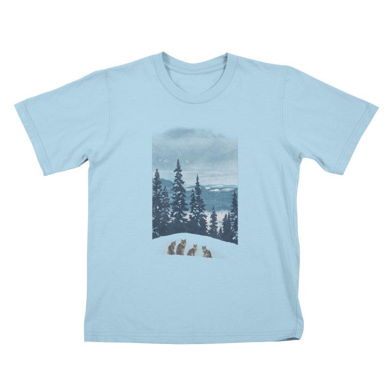 Frozen North Kids T-Shirt by Waynem