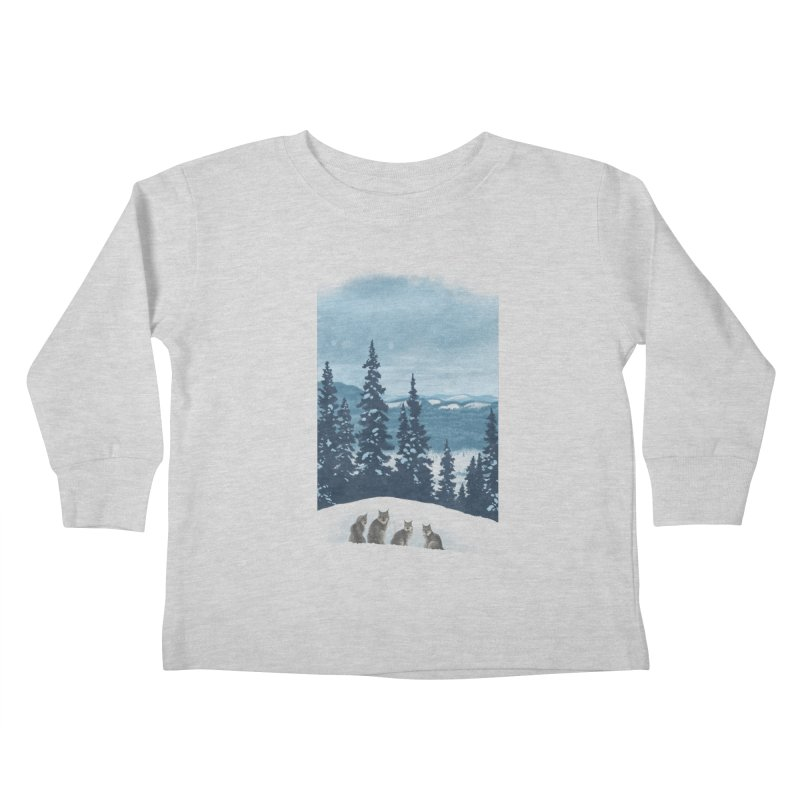Frozen North Kids Toddler Longsleeve T-Shirt by Waynem