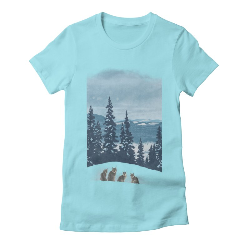 Frozen North Women's Fitted T-Shirt by Waynem