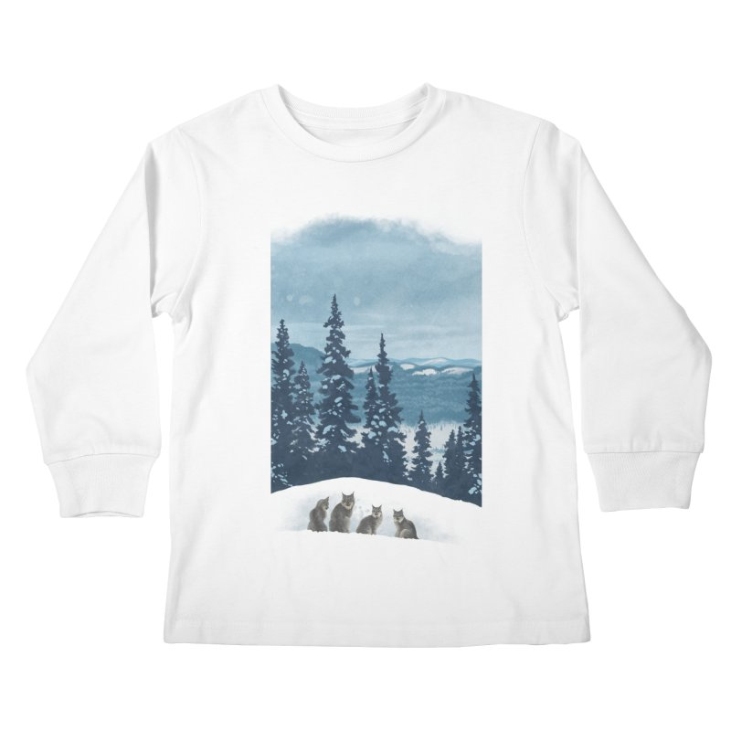 Frozen North Kids Longsleeve T-Shirt by Waynem