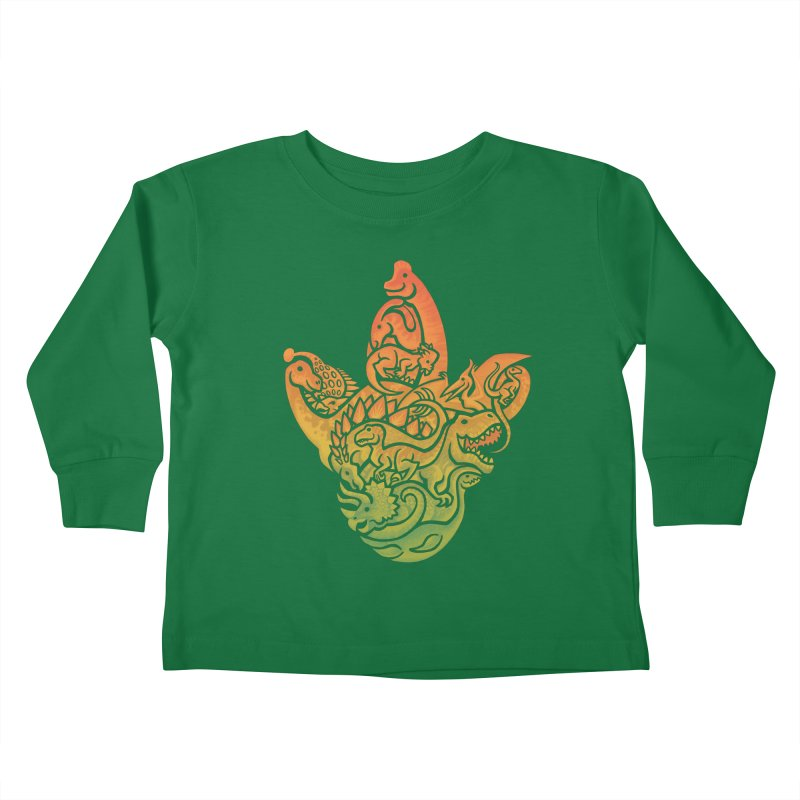 Prehistoric Print Kids Toddler Longsleeve T-Shirt by Waynem