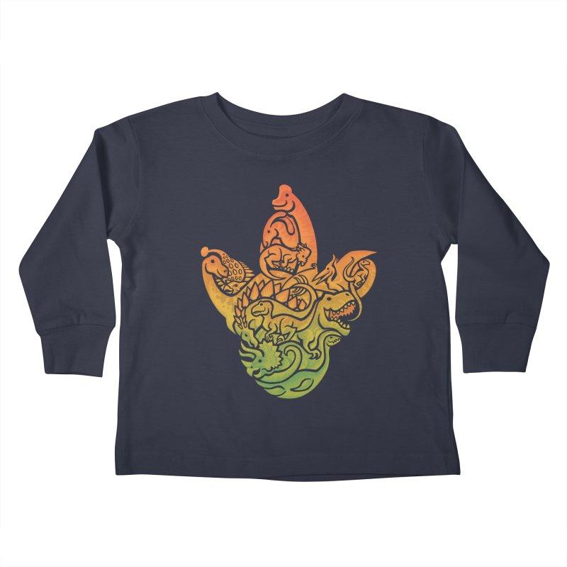 Prehistoric Print Kids Toddler Longsleeve T-Shirt by Waynem