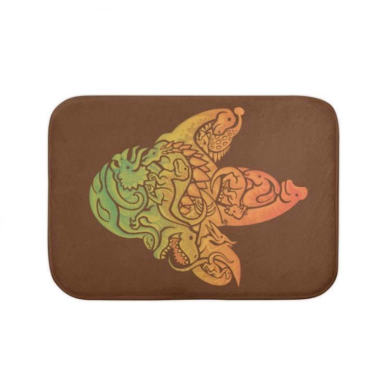 Prehistoric Print (brown) Home Bath Mat by Waynem