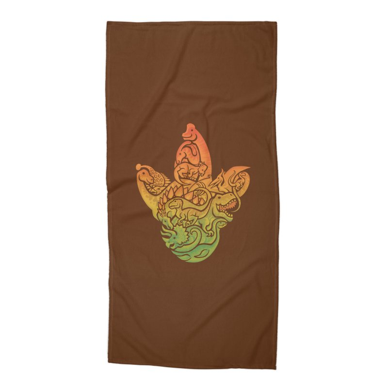 Prehistoric Print (brown) Accessories Beach Towel by Waynem