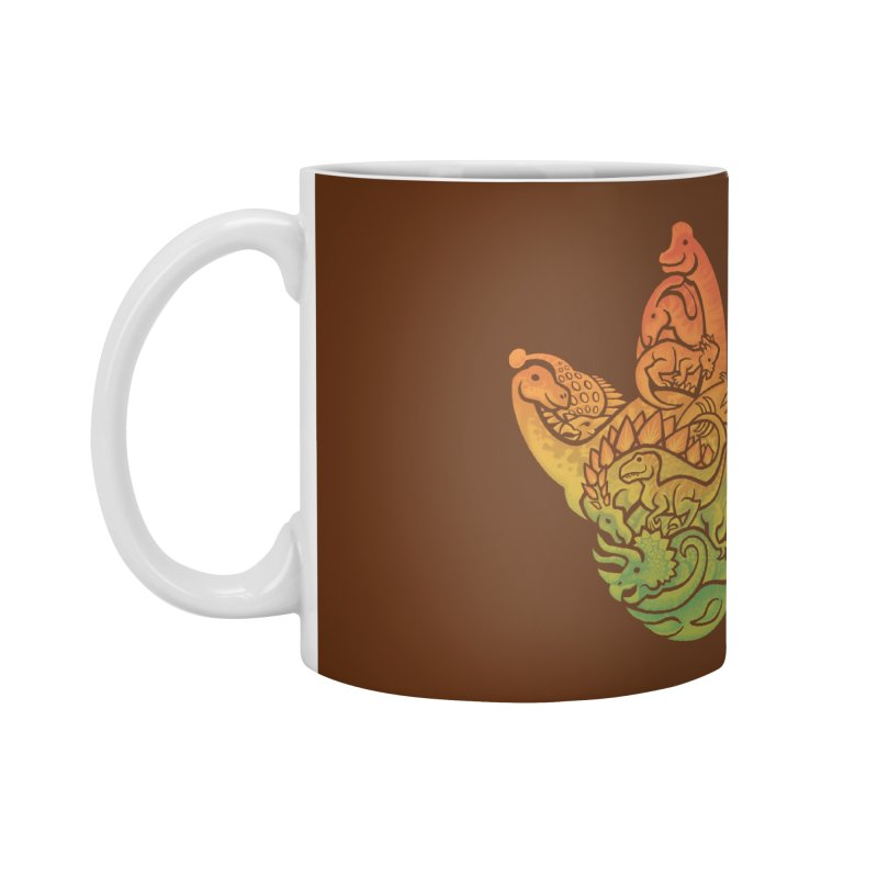 Prehistoric Print (brown) Accessories Mug by Waynem