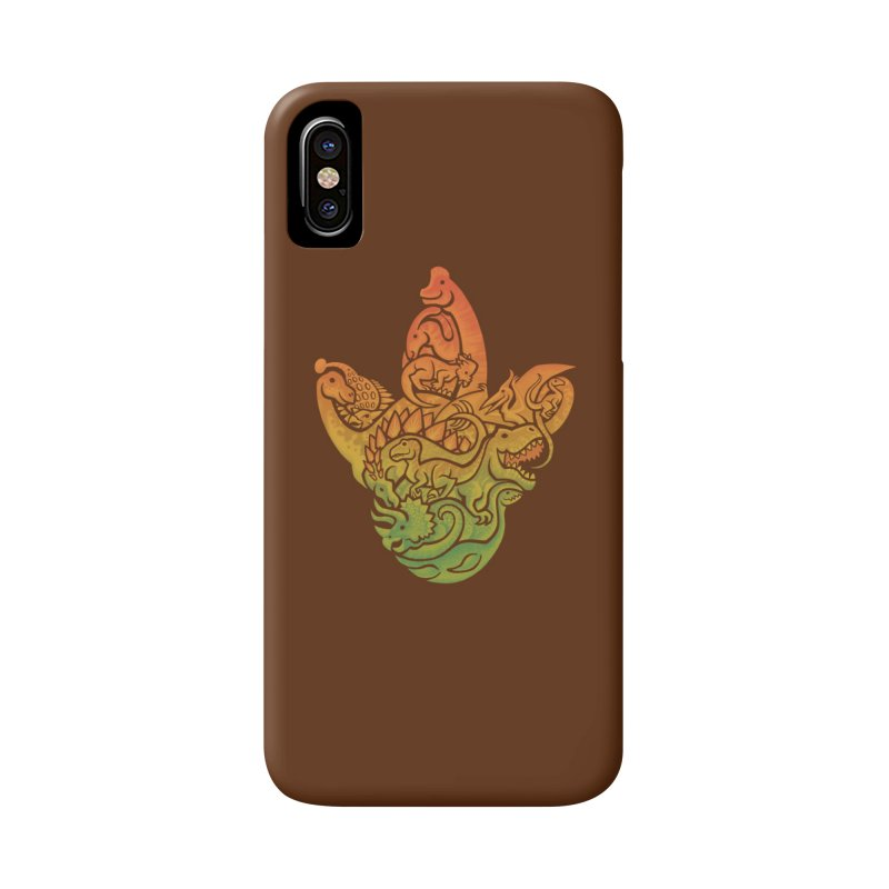 Prehistoric Print (brown) Accessories Phone Case by Waynem