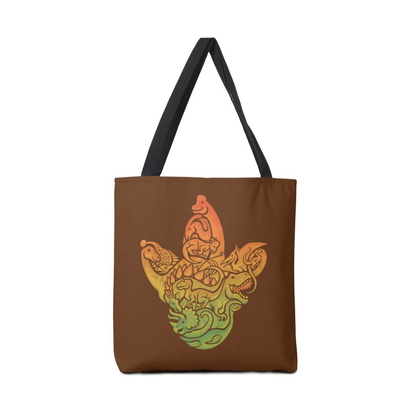 Prehistoric Print (brown) Accessories Bag by Waynem