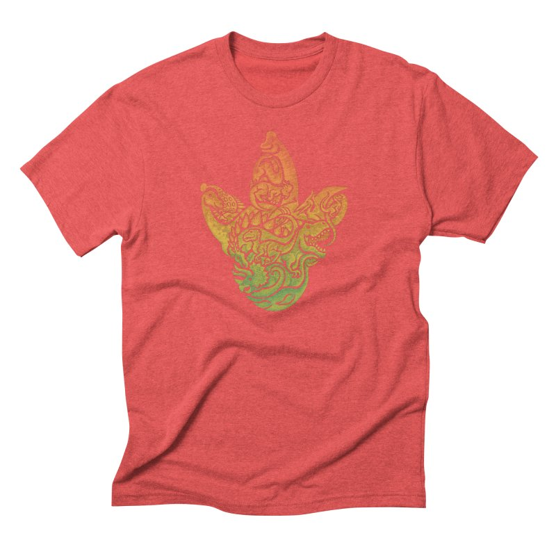 Prehistoric Print (brown) Men's Triblend T-Shirt by Waynem