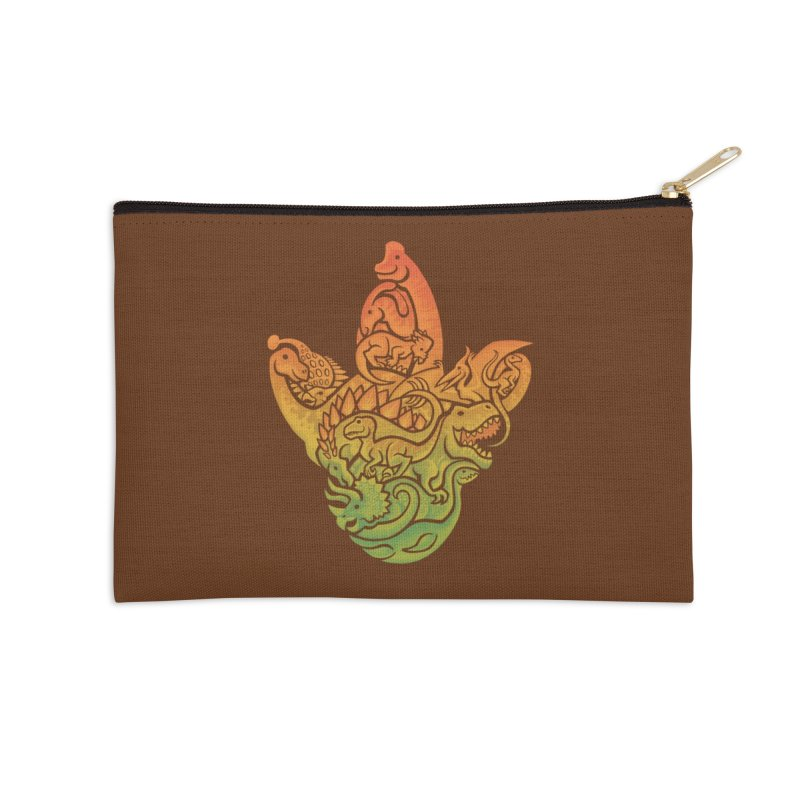 Prehistoric Print (brown) Accessories Zip Pouch by Waynem