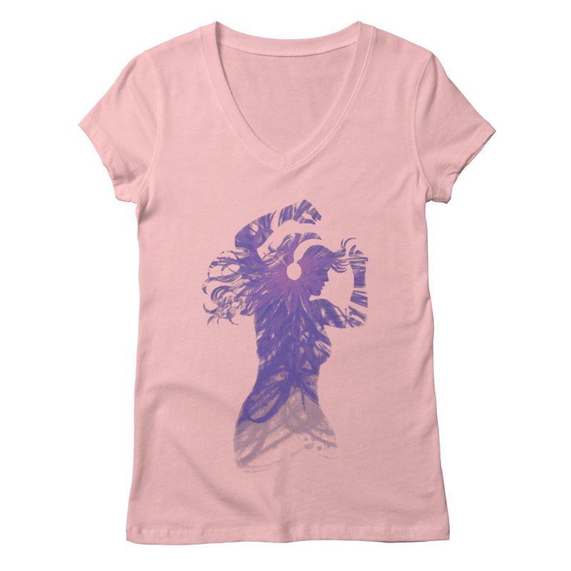 Filled with Music Women's V-Neck by Waynem