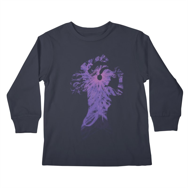 Filled with Music Kids Longsleeve T-Shirt by Waynem