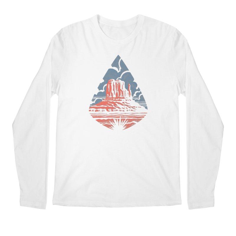Monument Valley Men's Longsleeve T-Shirt by Waynem