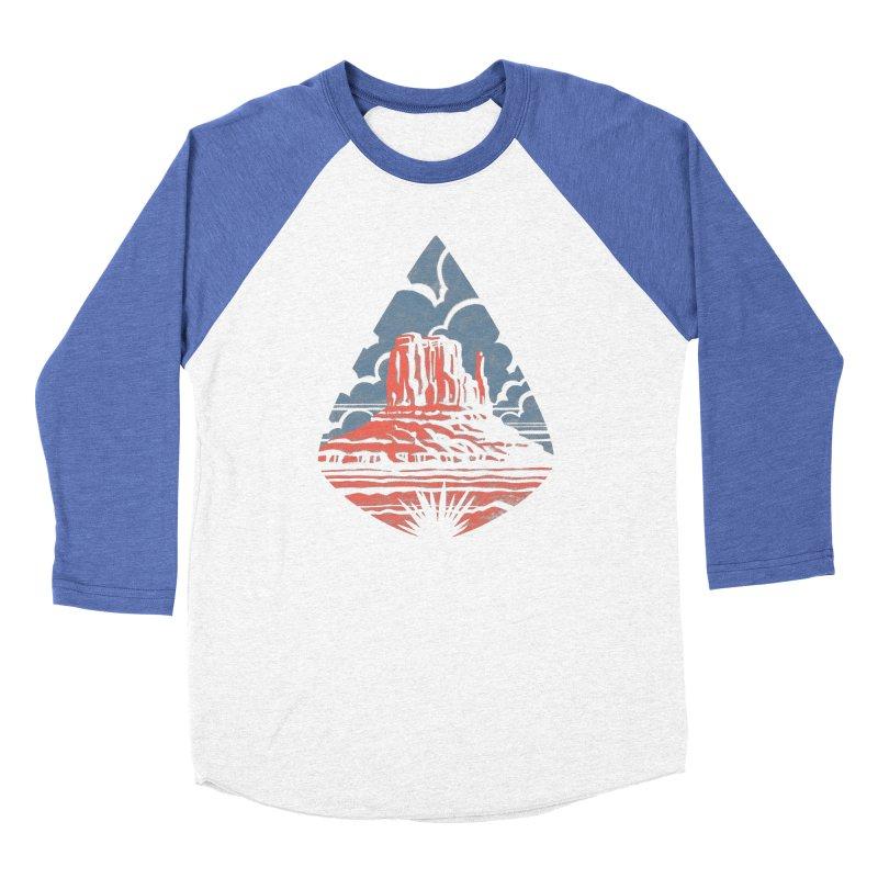 Monument Valley Men's Baseball Triblend T-Shirt by Waynem