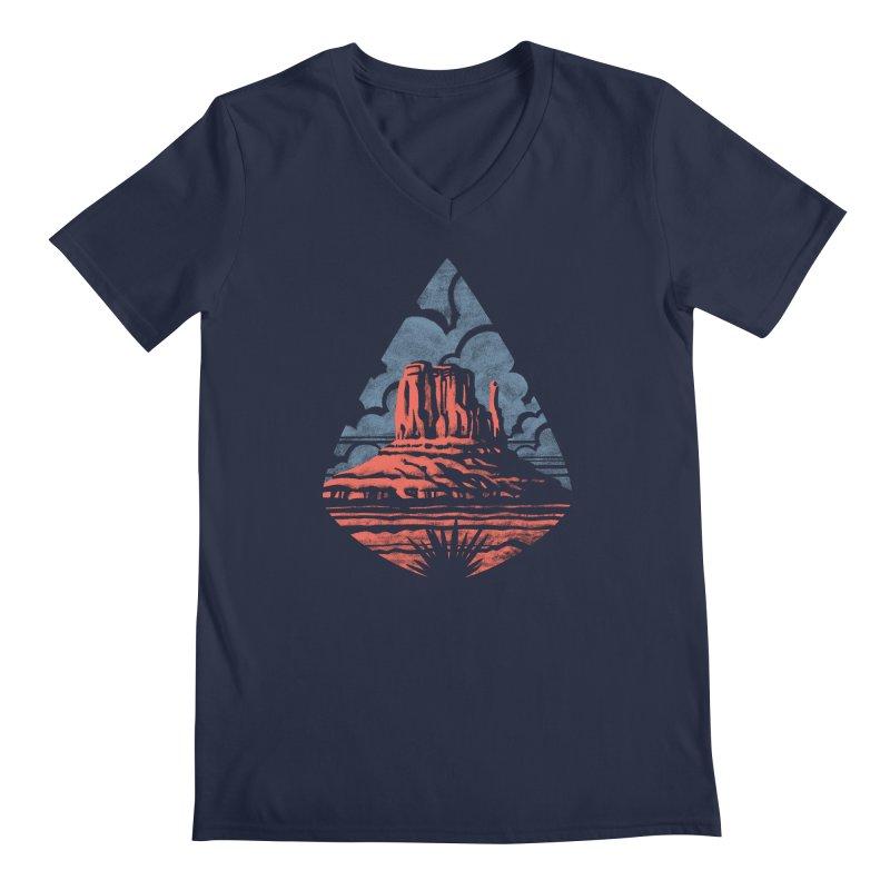 Monument Valley Men's V-Neck by Waynem