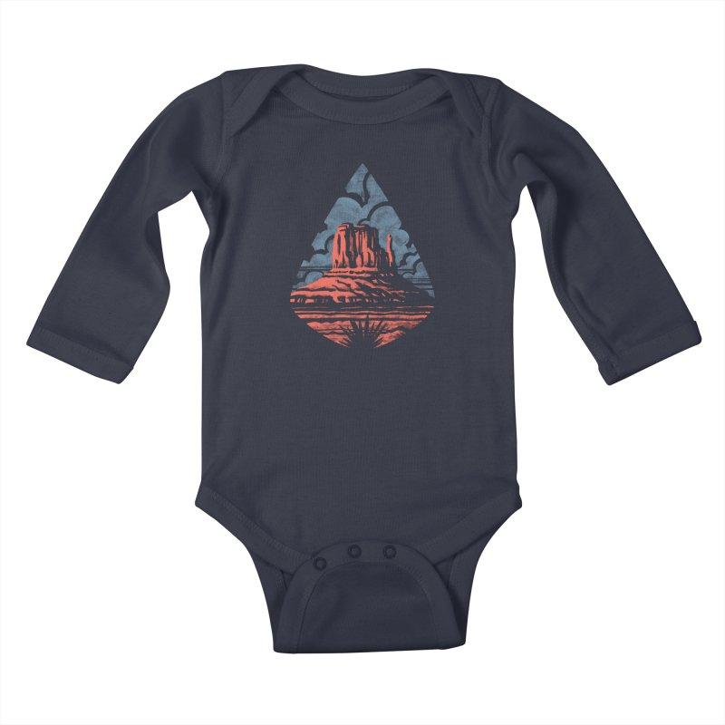 Monument Valley Kids Baby Longsleeve Bodysuit by Waynem