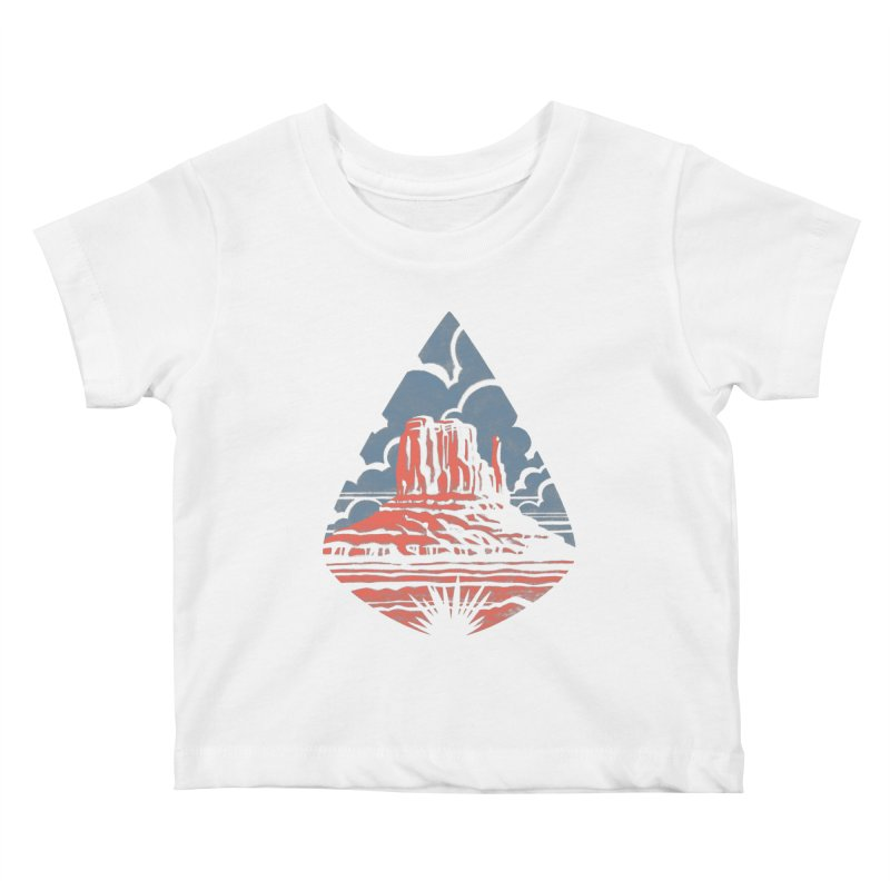 Monument Valley Kids Baby T-Shirt by Waynem