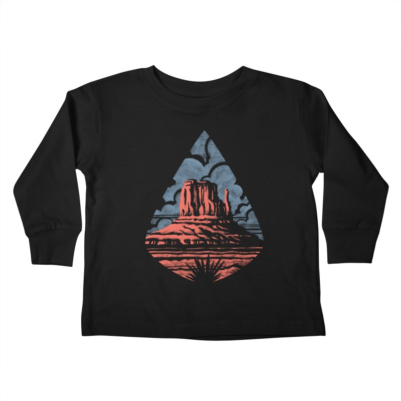 Monument Valley Kids Toddler Longsleeve T-Shirt by Waynem