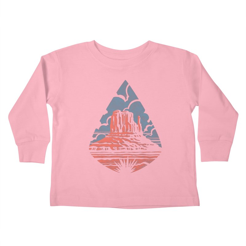Monument Valley Kids Toddler Longsleeve T-Shirt by Waynem
