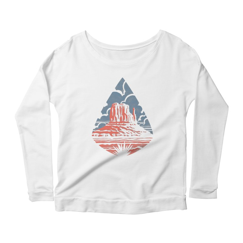 Monument Valley Women's Longsleeve Scoopneck  by Waynem