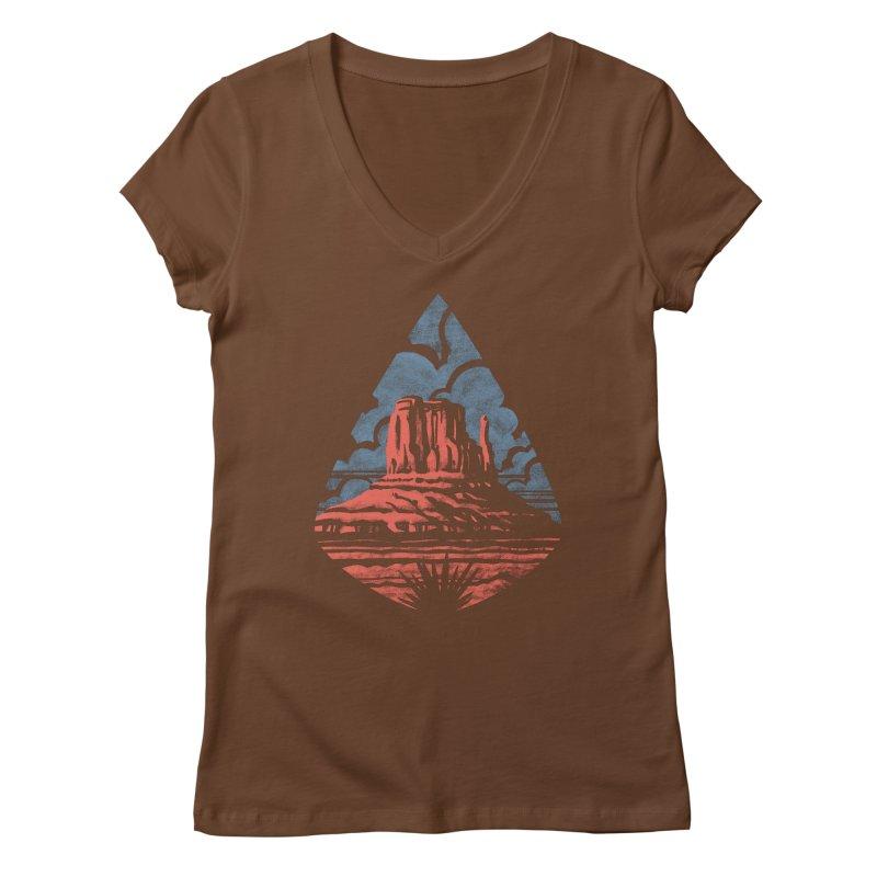 Monument Valley Women's V-Neck by Waynem